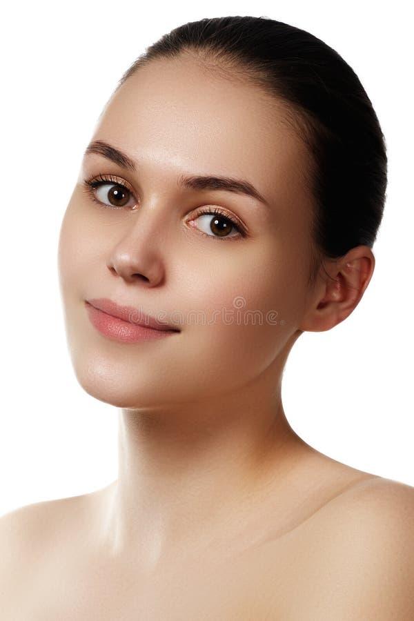 Composição & cosméticos Retrato do close up do modelo bonito f da mulher imagem de stock royalty free