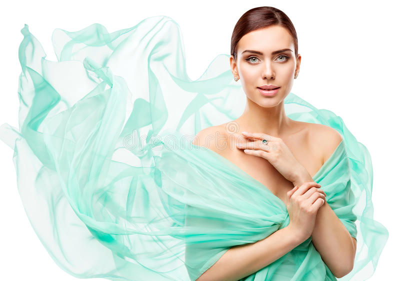 Composição da beleza da mulher, modelo de forma Face Make Up, menina bonita foto de stock