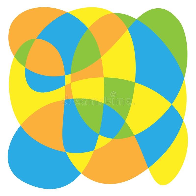 A composição da cor dos laços foto de stock
