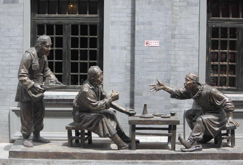 Composição da escultura que representa a vida do chinês foto de stock royalty free