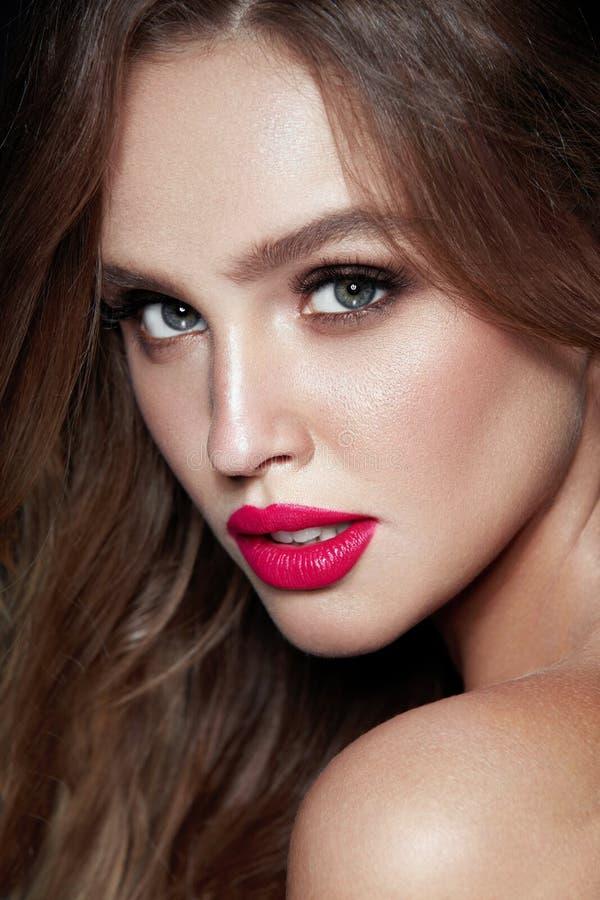 Composição da forma Mulher 'sexy' com cara da beleza imagem de stock royalty free