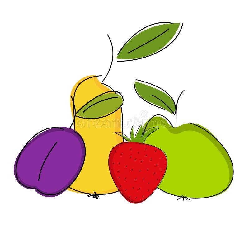 Composição da fruta ilustração stock