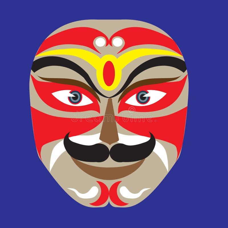 Composição da máscara da ópera de Peking ilustração royalty free