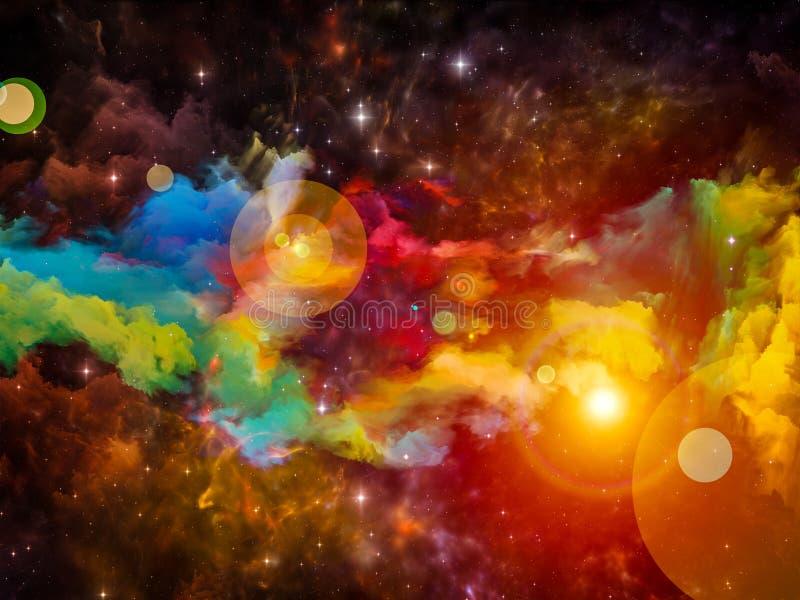 Composição da nebulosa ilustração stock