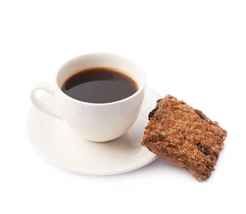 Composição da xícara de café e da cookie foto de stock royalty free