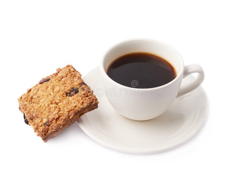 Composição da xícara de café e da cookie imagem de stock royalty free