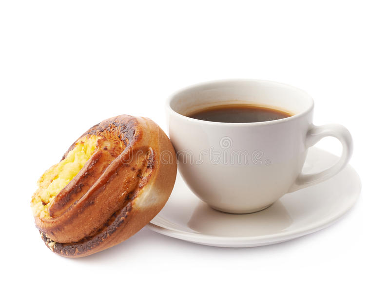 Composição da xícara de café e da pastelaria foto de stock
