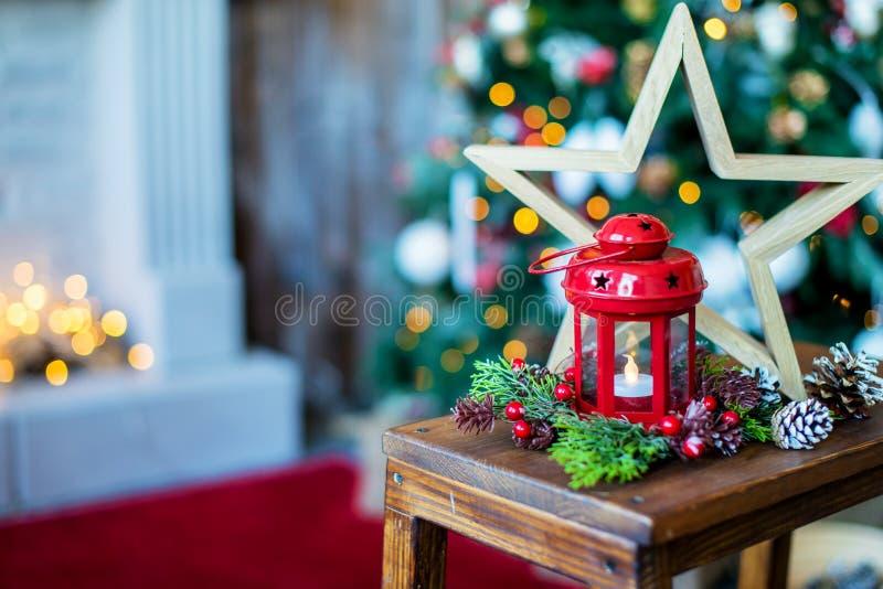 Composição das decorações do Natal imagens de stock