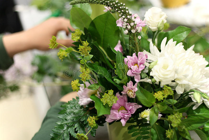 Composição das flores fotos de stock
