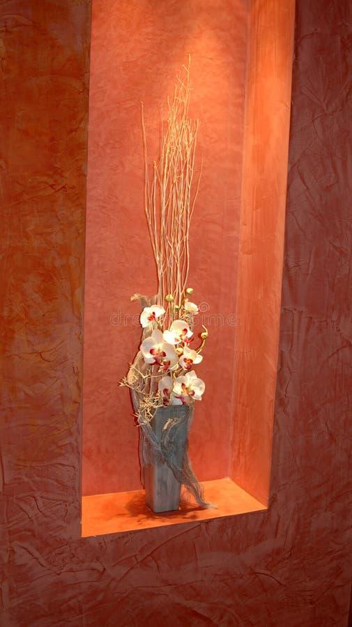 Composição das orquídeas. ilustração royalty free