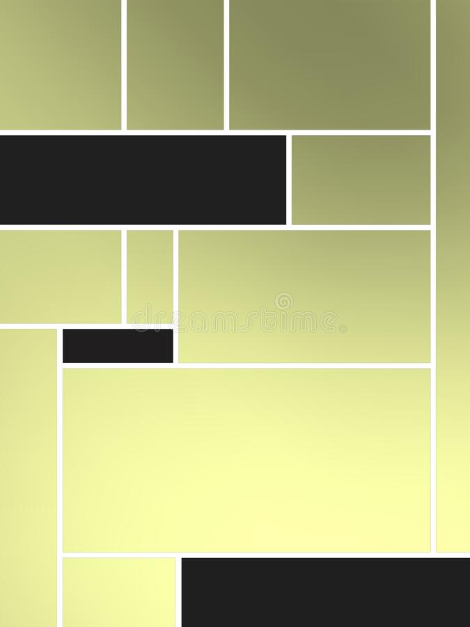 Composição de Geametric do tributo a Mondrian com retângulos pretos ilustração do vetor