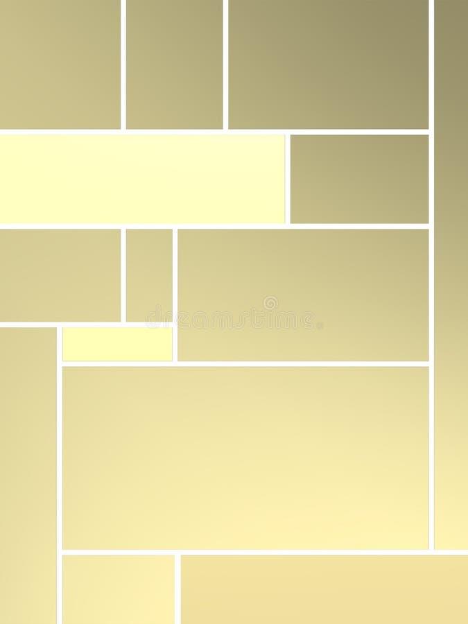 Composição de Geametric do tributo a Mondrian ilustração do vetor