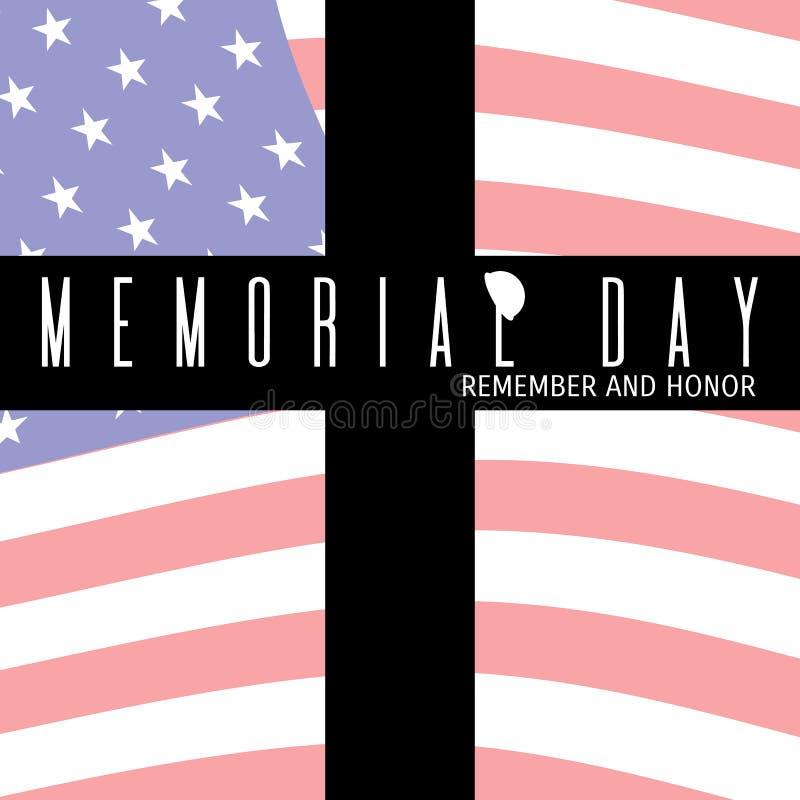 Composição de Memorial Day ilustração stock