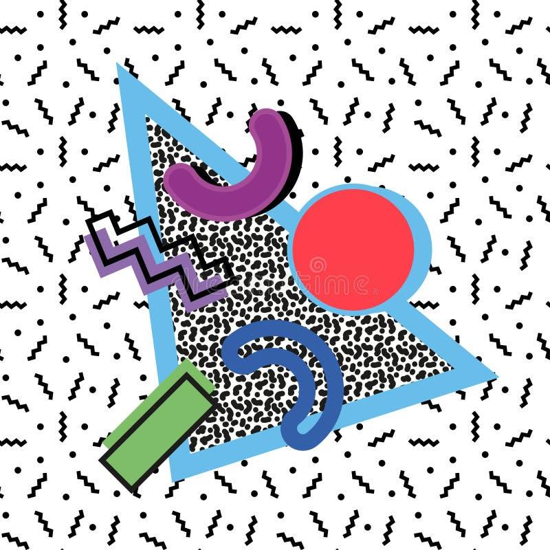 Composição de Memphis 80s ilustração do vetor