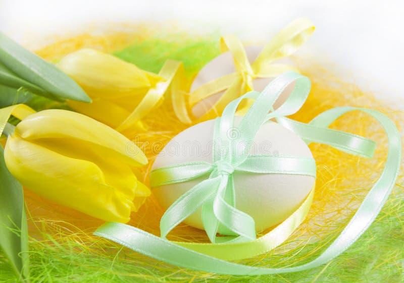 Composição de ovos de easter fotos de stock royalty free