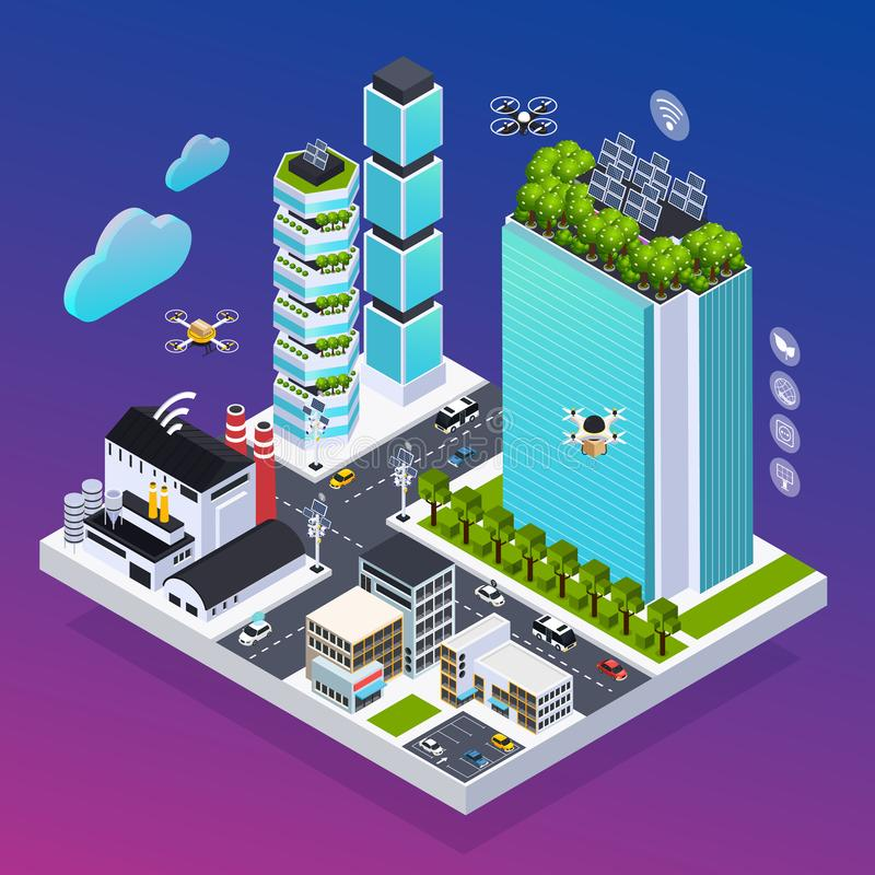 Composição de Smart City ilustração do vetor