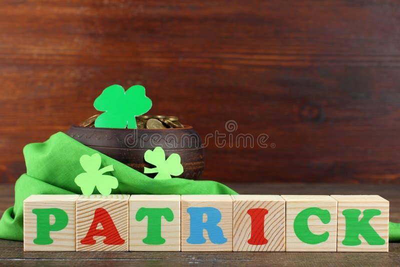 Composição de St Patrick imagens de stock