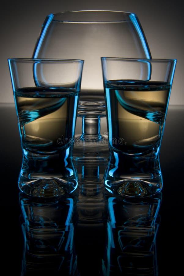 Composição de vidro abstrata imagens de stock royalty free