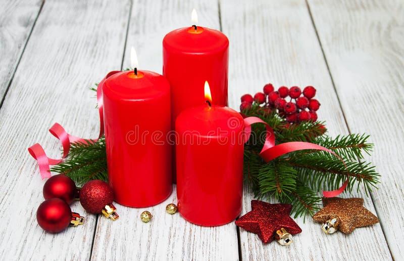 Composição decorativa do Natal fotos de stock