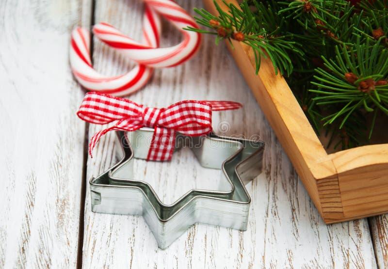 Composição decorativa do Natal foto de stock