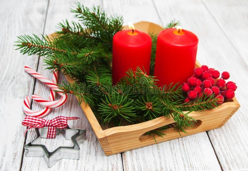 Composição decorativa do Natal fotos de stock royalty free