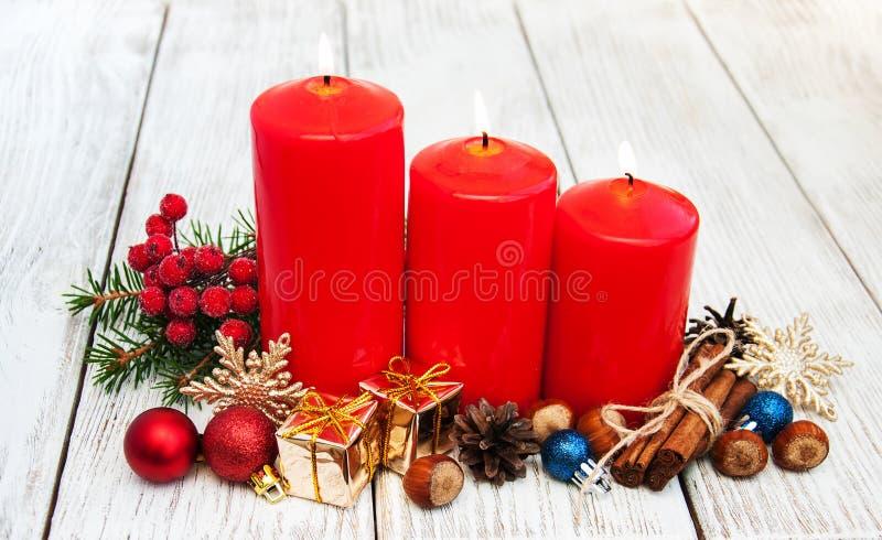Composição decorativa do Natal imagens de stock royalty free
