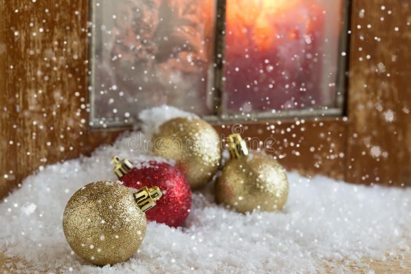 Composição decorativa do Natal Cartão do feriado do feriado postcard fotos de stock