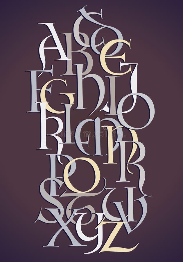 Composição do alfabeto do Lombard ilustração royalty free
