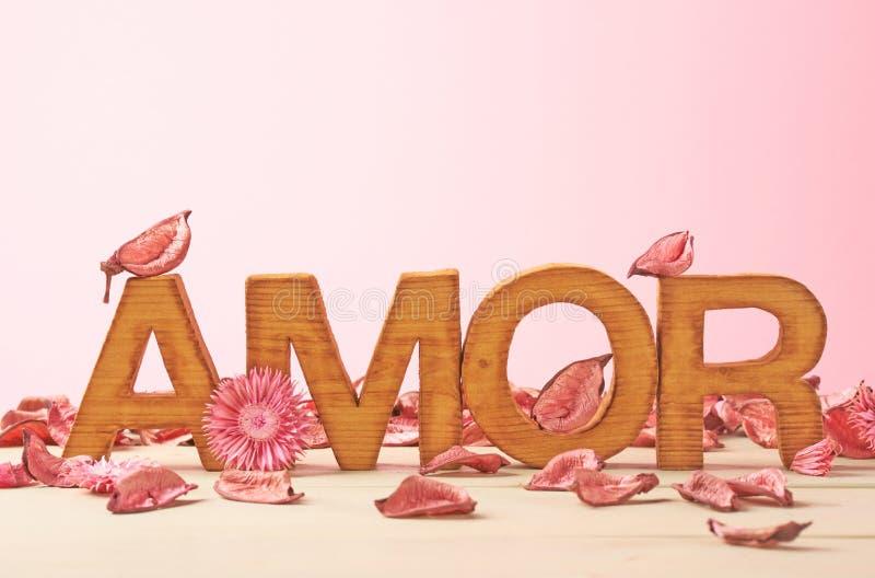 Composição do amor das letras imagens de stock