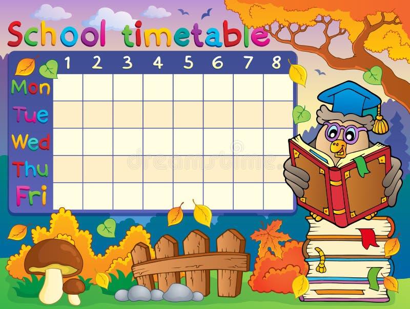 Composição 2 do calendário da escola ilustração stock