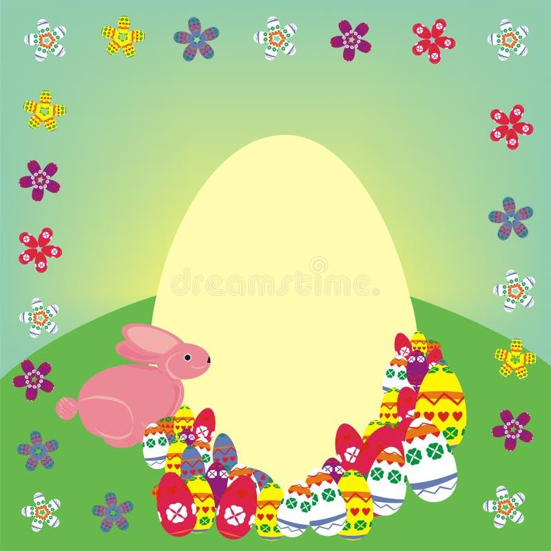 Composição do coelho de Easter fotos de stock royalty free