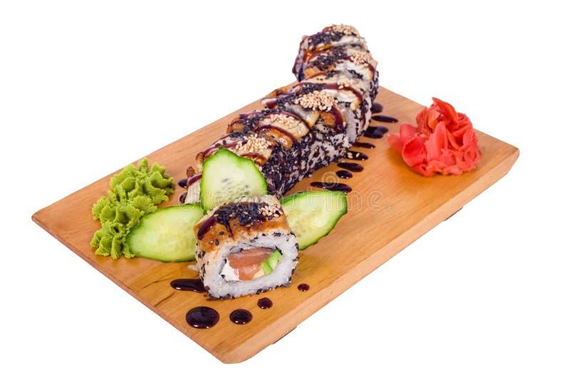 Composição do dragão do sushi fotos de stock royalty free