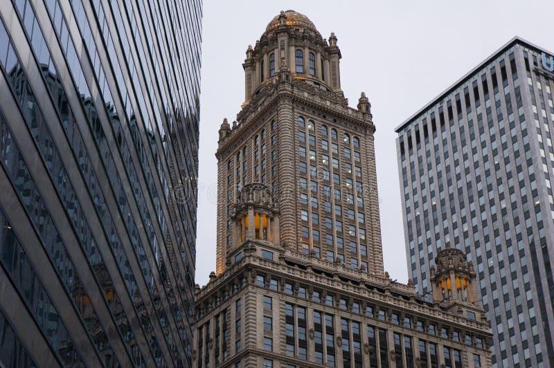 Composição do edifício de Chicago foto de stock