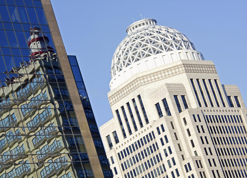Composição do edifício - Louisville, Kentucky imagens de stock