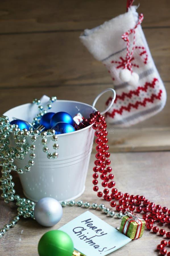 Composição do Feliz Natal fotografia de stock royalty free