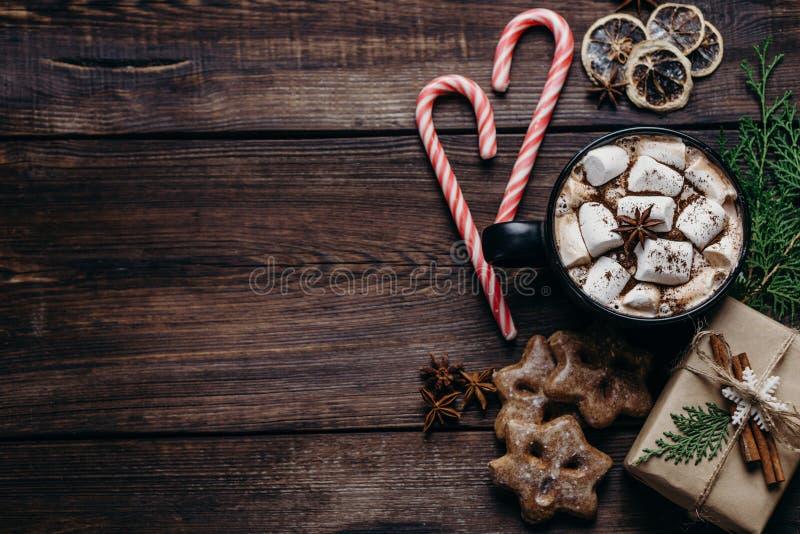 Composição do feriado do Natal e do ano novo fotografia de stock royalty free