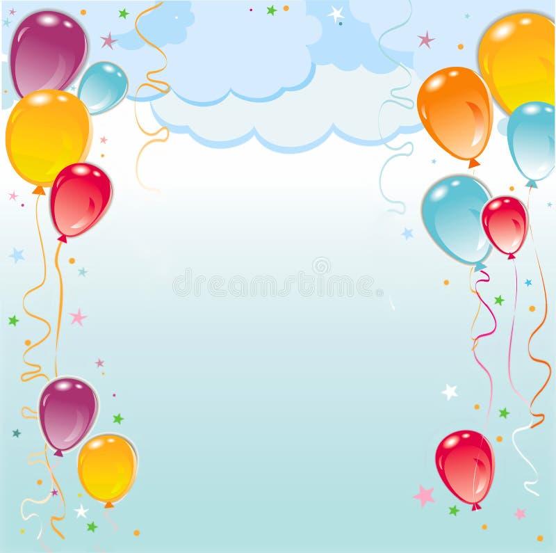 Composição do frame dos balões ilustração royalty free