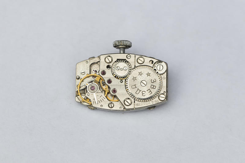 Composição do fundo do pulso de disparo mechanism fotografia de stock royalty free