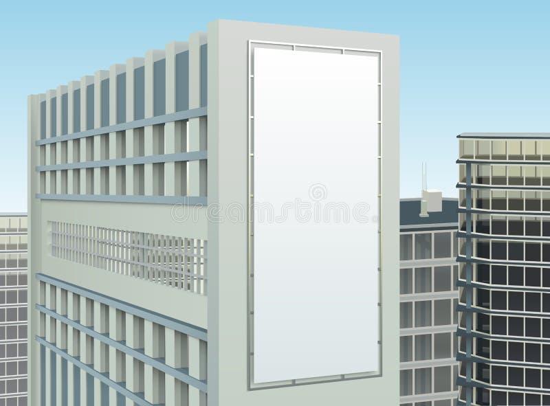 Composição do local da propaganda da arquitetura da cidade da construção ilustração stock