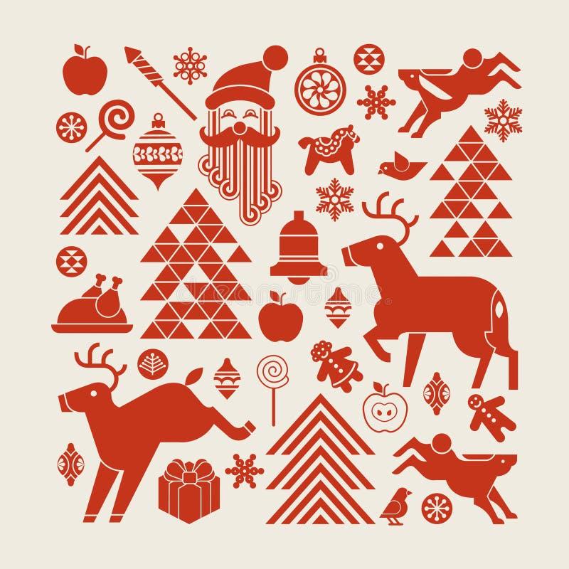 Composição do Natal ilustração do vetor