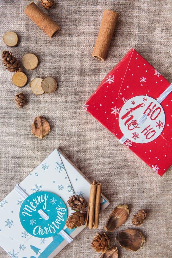 Composição do Natal E Configuração lisa fotos de stock
