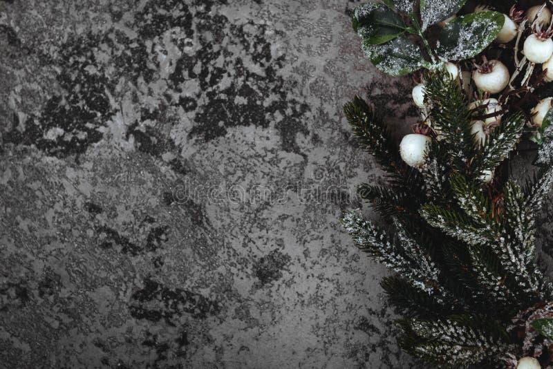 Composição do Natal Fundo do inverno Grinalda do Natal fotos de stock
