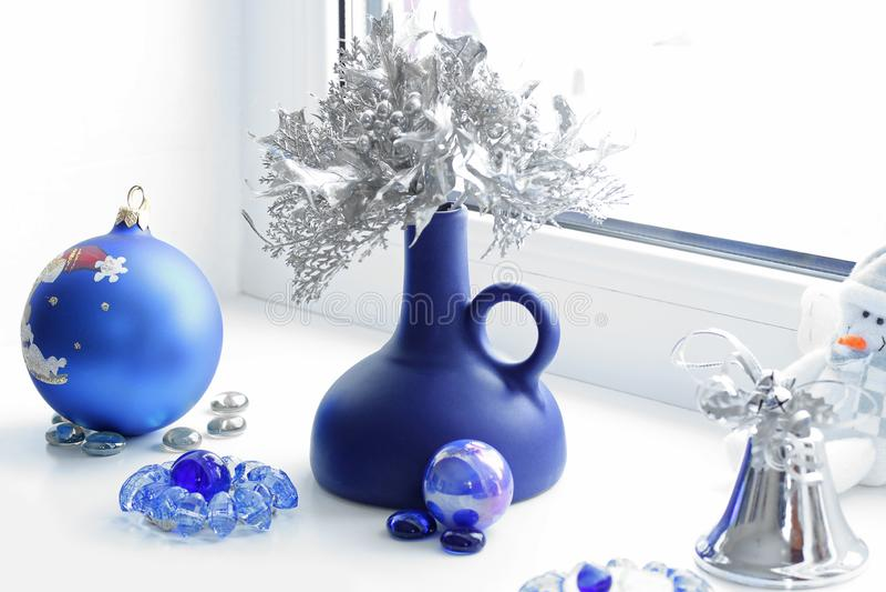 Composição do Natal Humor do inverno Decorações do Natal imagens de stock royalty free