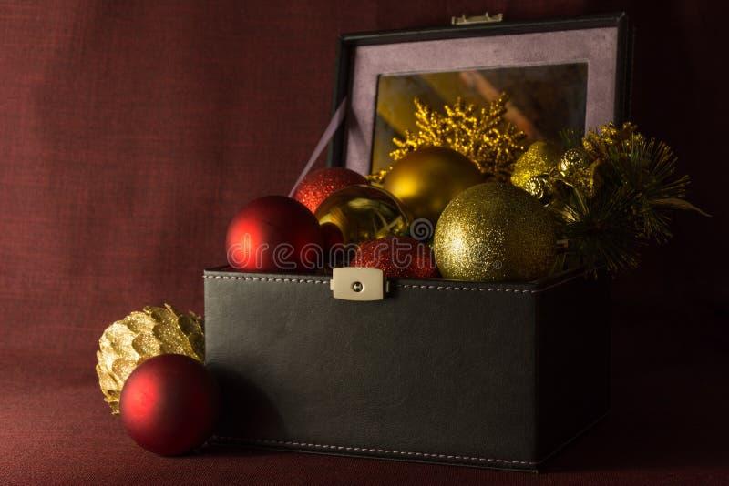 Composição do Natal do vintage fotos de stock