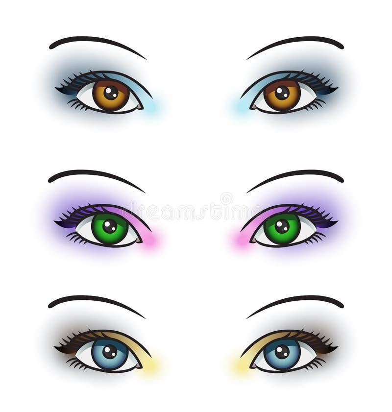 Composição do olho ilustração do vetor