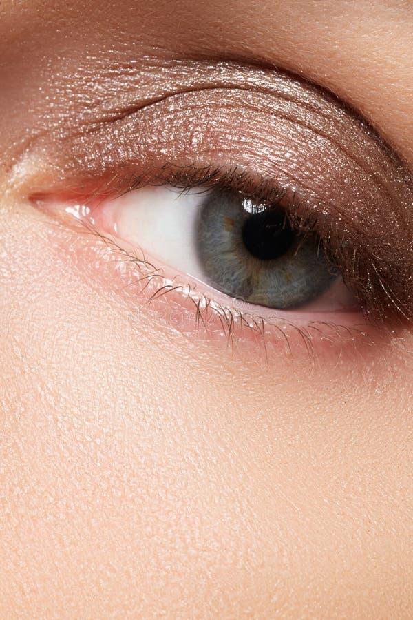 Composição do olho de Brown Composição dos olhos O estilo do vintage compõe fotos de stock
