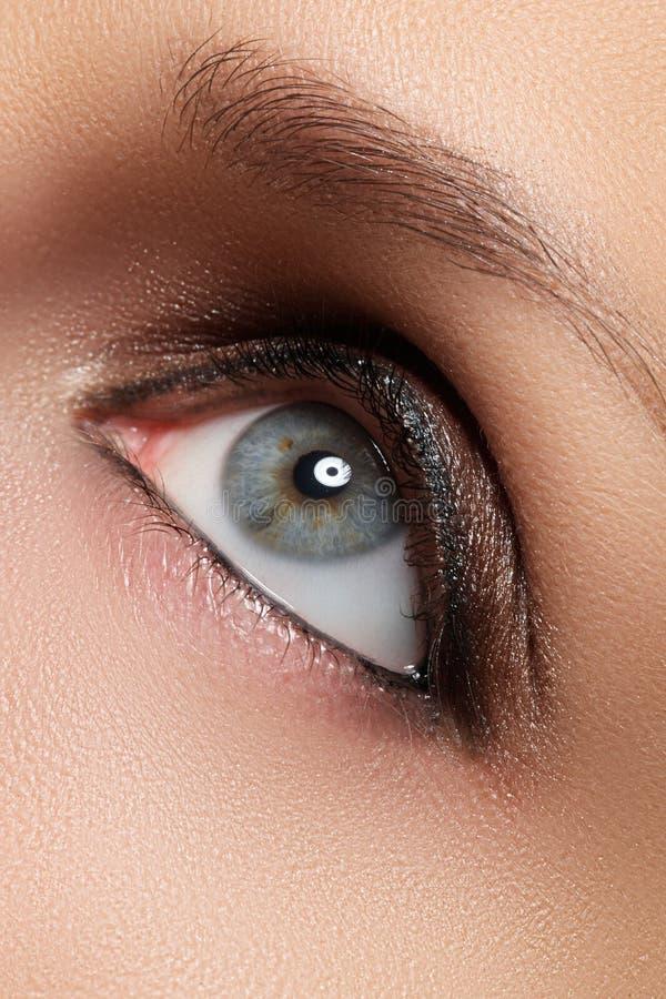 Composição do olho de Brown Composição dos olhos O estilo do vintage compõe foto de stock royalty free