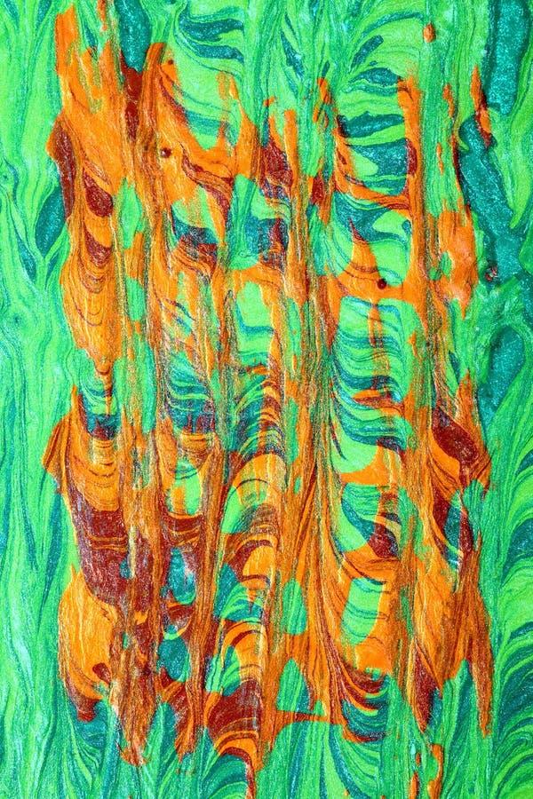 Composição do verde e dos testes padrões de Brown ilustração royalty free