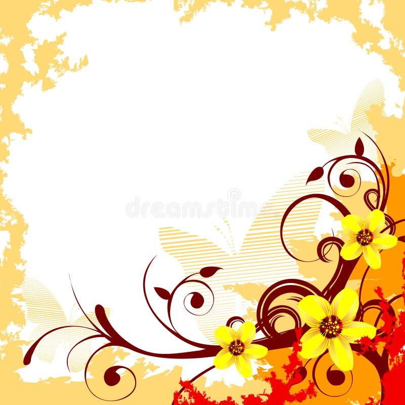 Composição do vetor da flor ilustração royalty free
