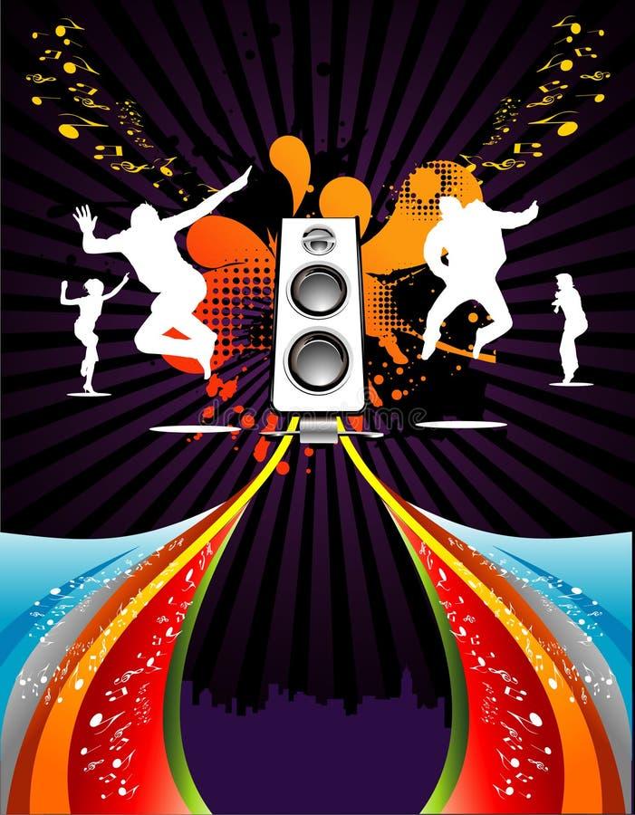 Composição do vetor da música ilustração do vetor